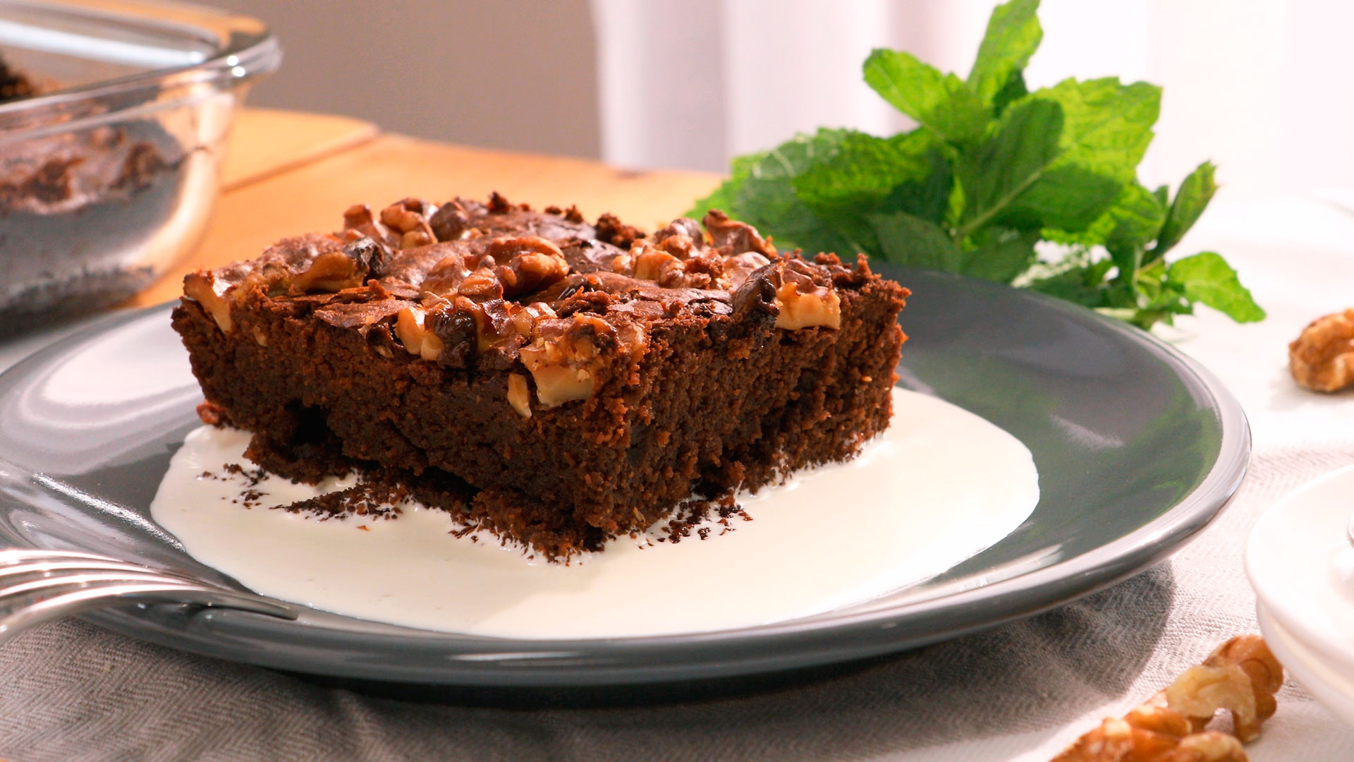 Brownie de chocolate y nueces